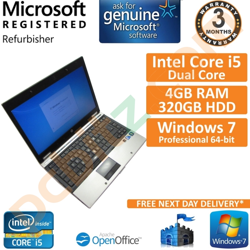HP EliteBook 8440p Core i5 2 40GHz 4GB 320GB Windows 7 Pro