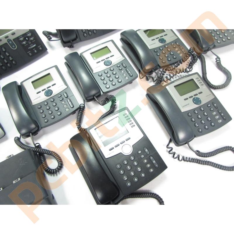 Job Lot 10 x IP Phones 7962 7941 SPA942 SPA962 7912 (Power