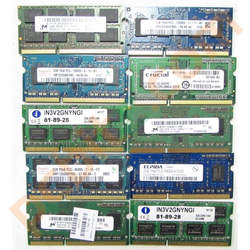 2GB DDR3 Various Brand Desktop Lot
