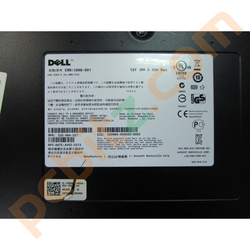 Dell 1U Rackmount LED Console - 18 5