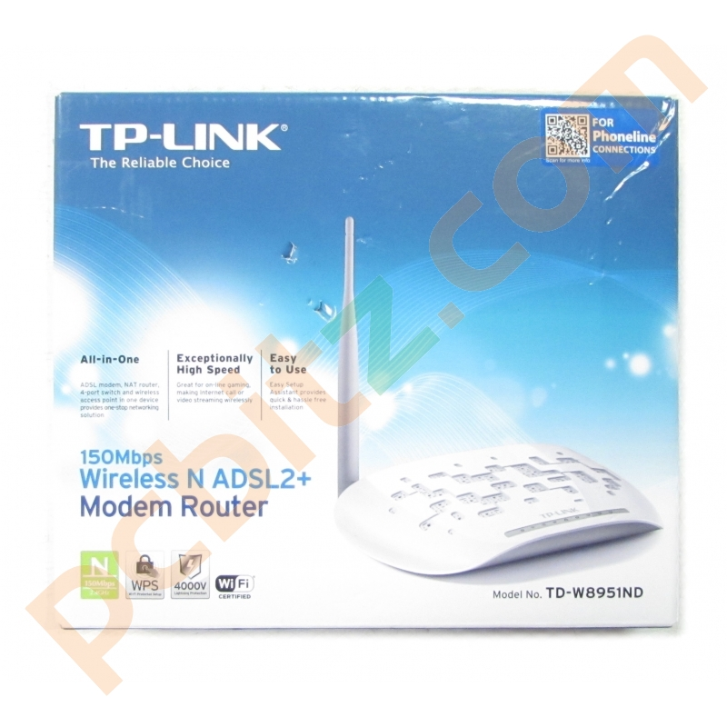 TP-LINK TD-W8951ND 150Mbps Wireless N ADSL2+ Modem Router