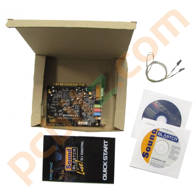SB0220 Creative Sound Blaster Live 5.1 Dolby Digital PCI Sound Card