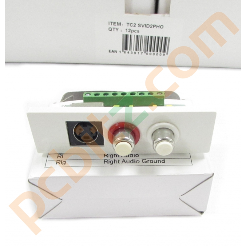 Vision Techconnect TC2 SVID2PHO S-Video And Dual Phono Jack