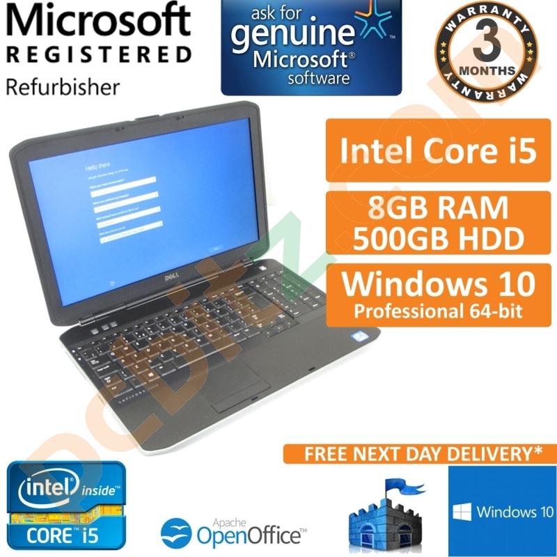 Dell Latitude E5530, Core i5-3210M @ 2 5GHz, 500GB, 8GB