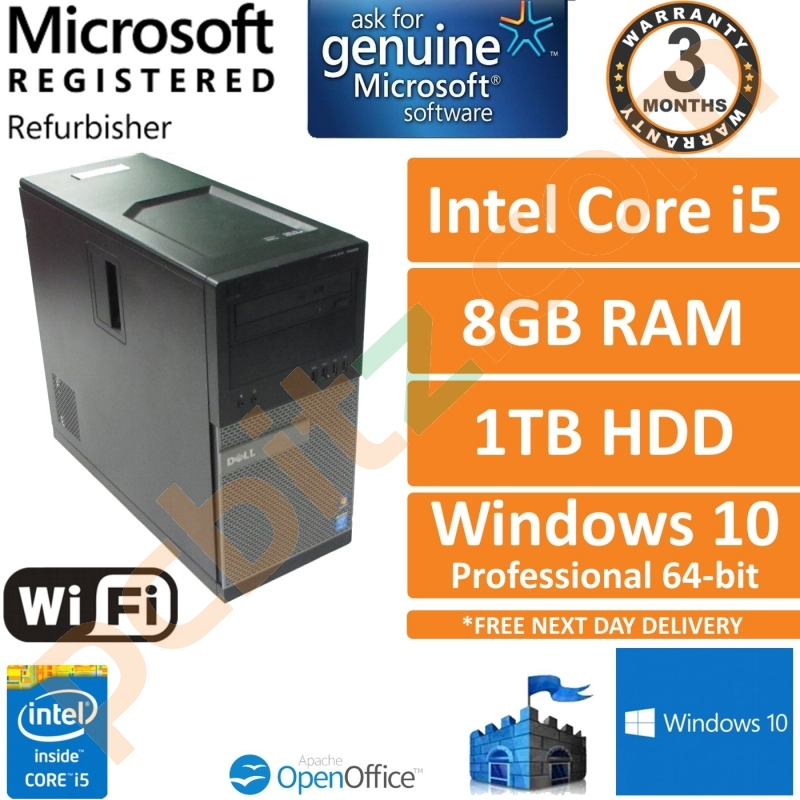 Dell Optiplex 7020 i5-4590 @ 3 3GHz 8GB 1TB Win 10 Pro