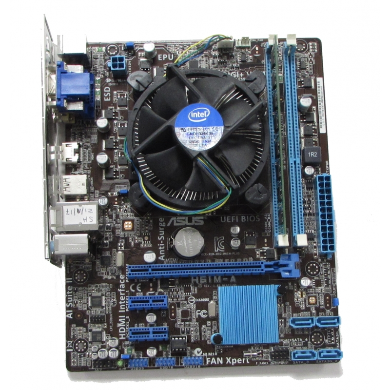 asus h61m a socket 1155 matx motherboard i5 3330 3ghz. Black Bedroom Furniture Sets. Home Design Ideas