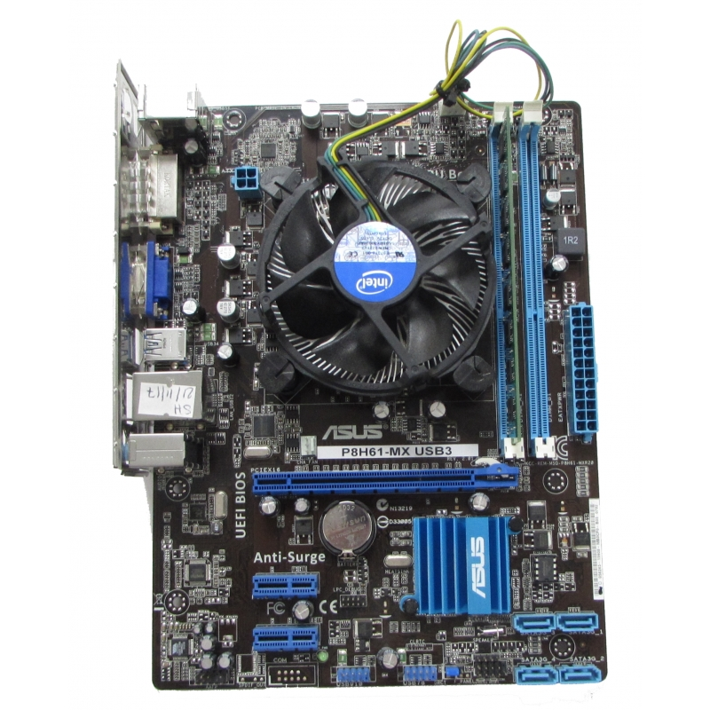 asus p8h61 mx usb3 motherboard core i5 2400 4gb. Black Bedroom Furniture Sets. Home Design Ideas