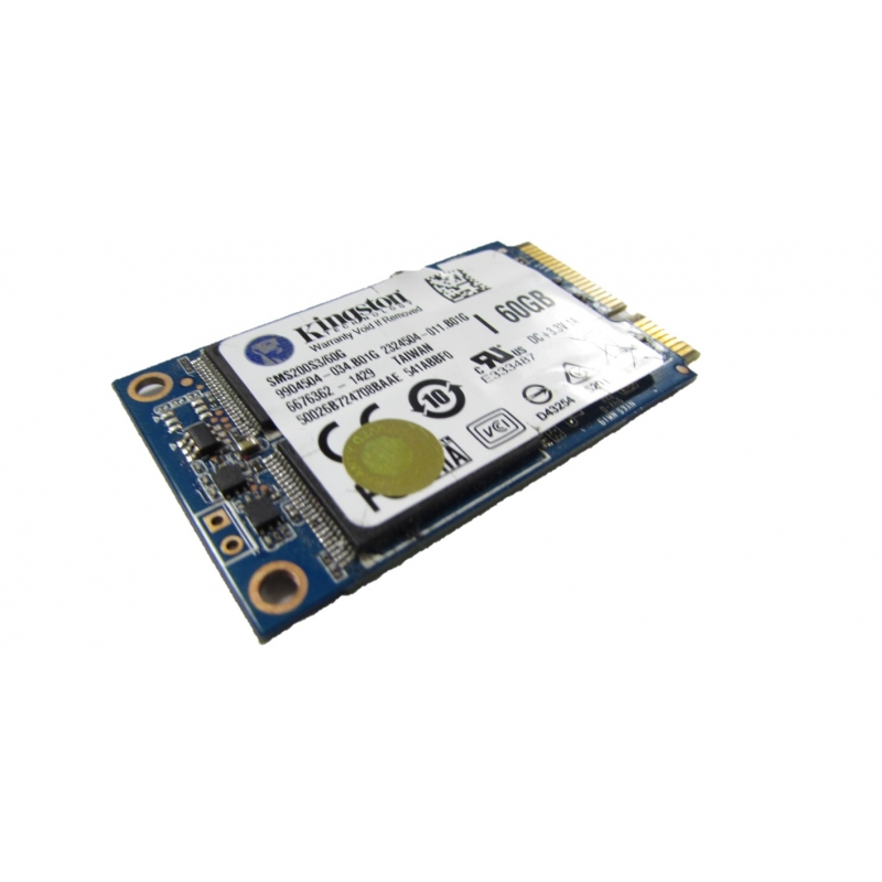 Kingston SMS200S3/60G 60GB mSATA Solid State Drive (SSD) Hard Drives