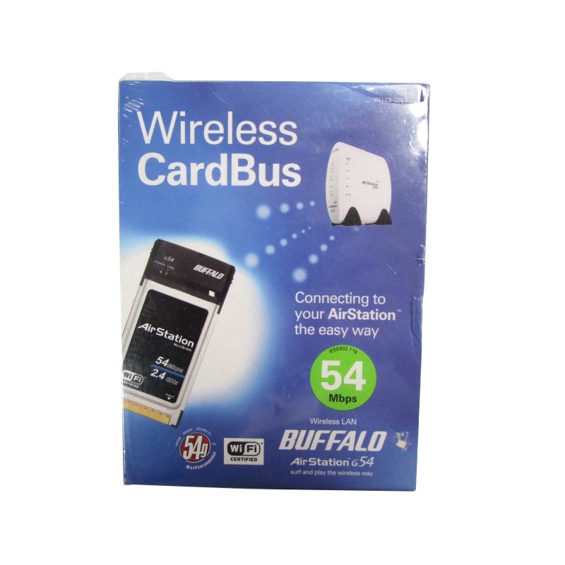 Buffalo AirStation 80211BG 54Mbps CardBus Wireless Ethernet Adapter WLI CB C54