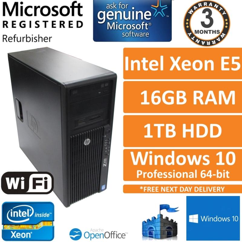 HP Z420, Intel Xeon E5-1620 v2 @ 3 7GHz, 16GB, 1TB, Win 10 Pro
