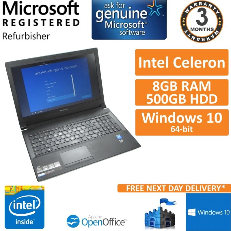 Lenovo B50 30 Intel Celeron N2840 2 16ghz 8gb 500gb Win 10 15 6 Laptop B Refurbished Laptops