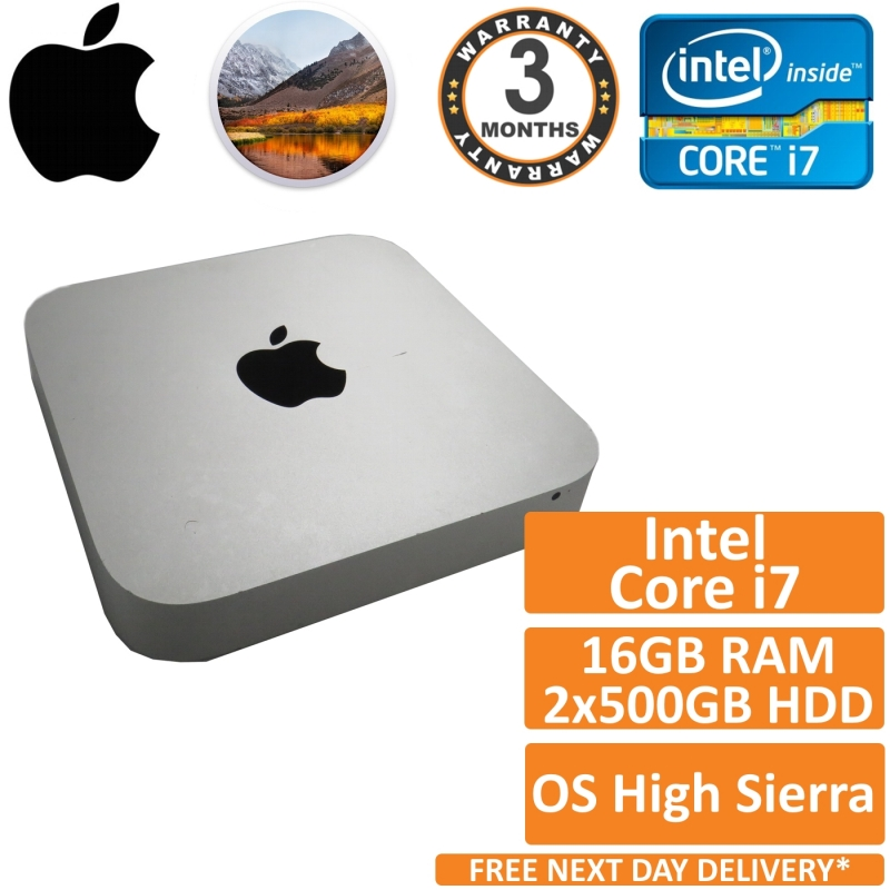 Apple Mac Mini A1347 Core i7 2 00GHz 16GB RAM 2x500GB HDD (Mid 2011