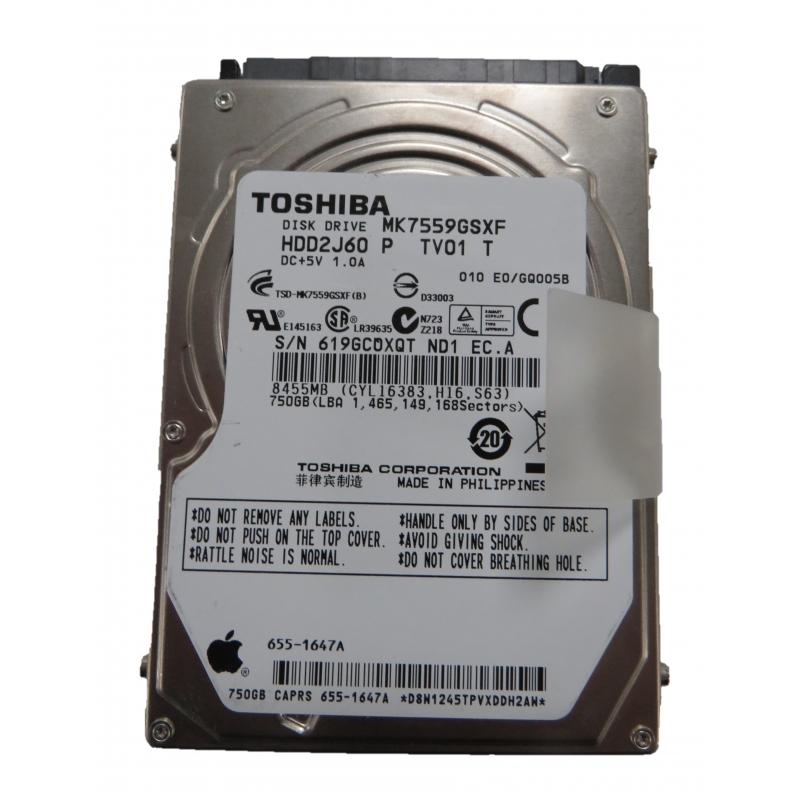 Toshiba 750GB Internal HDD 2 5
