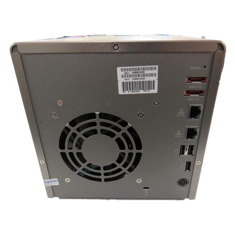 QNAP TS-410 4 Bay NAS Enclosure (4X 500GB) Hard Drives) No PSU NAS Box