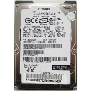 "Hitachi Travelstar IC25N080ATMR04-0 80GB IDE 2.5"" Laptop Hard Drive"