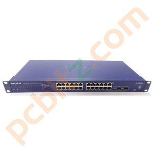 Netgear ProSafe 24 Port 10/100/1000 Mbps Gigabit Smart Switch GS724T V2