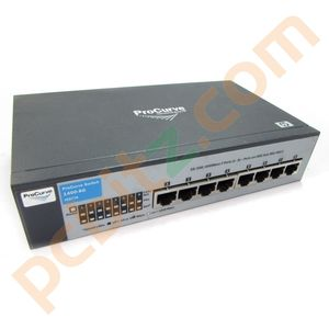 HP ProCurve Switch 1400-8G J9077A 8 Port Gigabit No Power Adapter