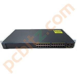 Cisco Catalyst WS-C2960-24TC-L V04 24 Port 10/100 Ethernet Switch GE Uplink