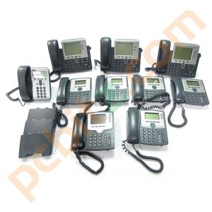 Job Lot 10 x IP Phones 7962 7941 SPA942 SPA962 7912 (Power on test only)
