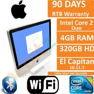 "Apple iMac 20"" A1224 Mid 2007 C2D 2.4GHz 4GB 320GB El Capitan 10.11 PC  (B)"