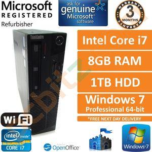 Lenovo ThinkCentre M91p Core i7-2600 3.40GHz, 8GB, 1TB, Windows 7 Pro SFF PC