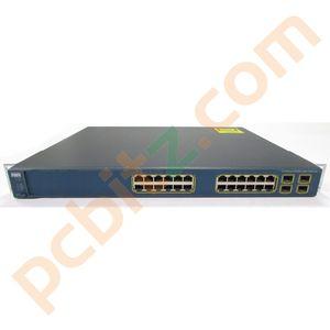 Cisco Catalyst WS-C3560G-24PS-E V05 24 Port Gigabit Switch (Faulty PoE)