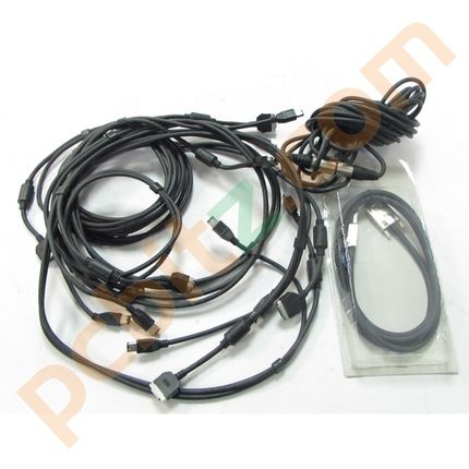Job Lot 5 x Infiniband Cables, 1 x 3 pin Microphone Cable
