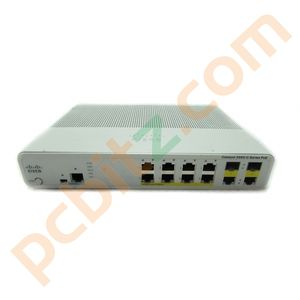 Cisco Catalyst WS-C2960C-8PC-L V01 8 Port 10/100 PoE FastEthernet Switch