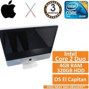 """Apple iMac A1224 2008 20"""" Core 2 Duo 2.66GHz 4GB 320GB El Capitan (Grade C)"""