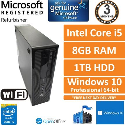 HP ProDesk 400 G1 Intel Core i5-4570 3.2GHz 8GB 1TB Windows 10 Pro SFF PC