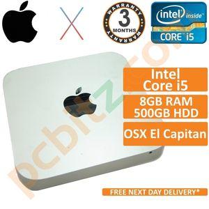 Apple Mac Mini A1347 Core i5 2.50GHz 8GB RAM 500GB HDD (Late 2012) El Capitan
