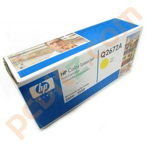 HP Q2672A Genuine Yellow Toner Cartridge 3500 3550 3700
