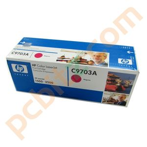 New Genuine HP C9703A Magenta Toner Cartridge for HP LaserJet 1500, 2500