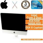 """Apple iMac A1224 Mid 2009 20"""" Core 2 Duo 2GHz 4GB 160GB El Capitan B-Dent No BT"""