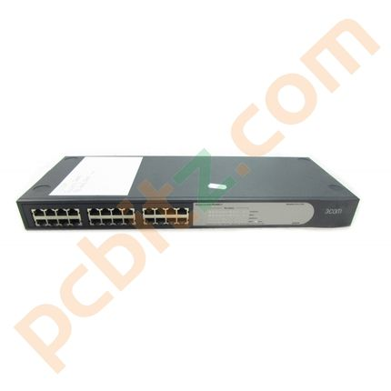 3COM Baseline 2024 3C16471B 10/100 Switch (No ears)