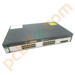 Cisco Catalyst WS-C3750G-24TS-E V08 24 Port Gigabit Switch
