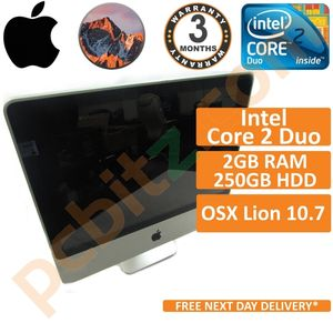 """Apple iMac A1224 2210 2008 20"""" Core 2 Duo 2.40GHz 4GB 250GB El Capitan (Grade C)"""
