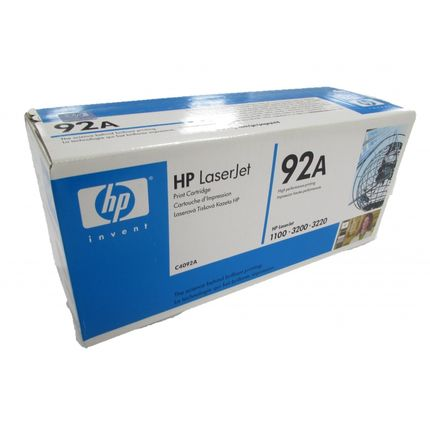Genuine HP C4092A 92A Black Toner Cartridge for 1100 3200 3220 New Boxed Sealed