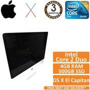 "Apple iMac 24"" A1225 2134 Core 2 Duo 2.8GHz 4GB 500GB OS X El Capitan 10.11"