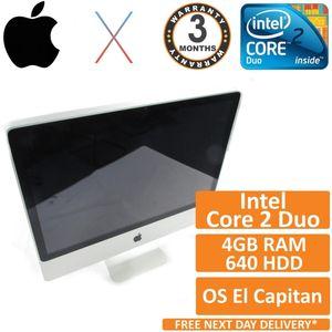 "Apple iMac 24"" A1225 Core 2 Duo 3.06GHz 4GB 640GB OS X El Capitan Early 2009 (B)"