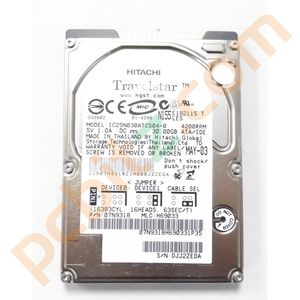 "Hitachi Travelstar IC25N030ATCS04-0 30GB IDE 2.5"" Laptop Hard Drive"