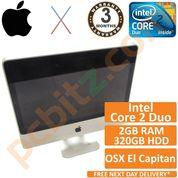 """Apple iMac A1224 8.1 2008 20"""" Core 2 Duo 2.66GHz 2GB 320GB El Capitan (Grade B)"""