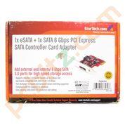 StarTech PEXSAT31E1 1x eSATA + 1x SATA 6 Gbps PCI Express SATA Controller Card