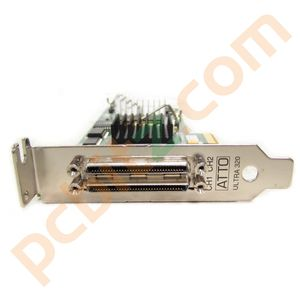 HP 445009-001 ATTO AH627-60001 PCI-E Dual Channel U320 SCSI Host Bus Adapter LP