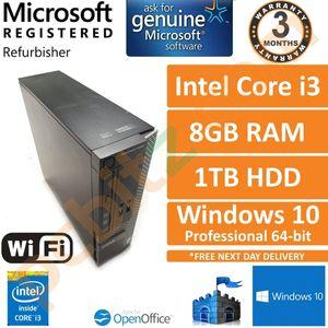 Dell Optiplex 3020 SFF, Core i3-4130 3.4GHz, 8GB, 1TB, Win 10 Pro Desktop PC