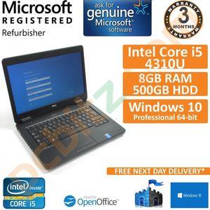 """Dell Latitude E5440, Core i5-4310U, 500GB, 8GB, Windows 10 14"""" Laptop"""