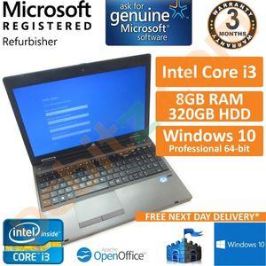 """HP ProBook 6570b Core i3-3120M 2.5GHz 8GB 320GB Windows 10 Pro 15.6"""" Laptop"""