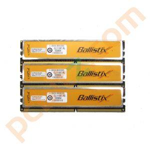 Crucial Ballistix BL12864AA106A.8FE5 2GB (3 x 1GB) PC2-8500 1066MHz DDR2 Memory