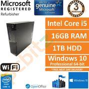 Lenovo ThinkCentre M93p, Core i5-4570, 3.20GHz, 16GB, 1TB, Windows 10 Pro SFF PC