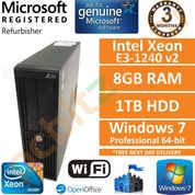 HP Z220, Intel Xeon E3-1240 v2 @ 3.4GHz, 8GB, 1TB, Win 7 Pro, Workstation PC
